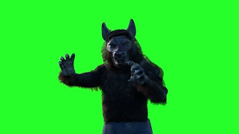 werewolf on a green background 3D render