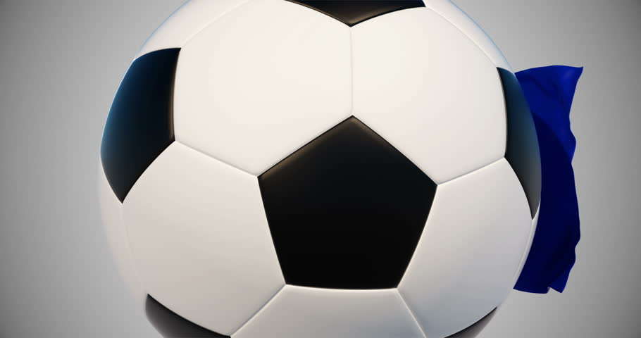 Soccer_ball_flag. French Football Championship.Sport,football advertising  ideas.3d animation | Shutterstock HD Video #1016623297