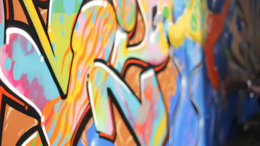 Gangsta Wall Street Art ,graffiti Stock Footage Video (100% Royalty ...