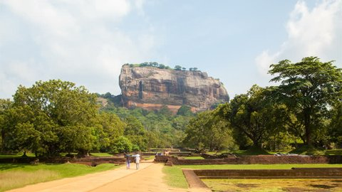 tourist road to Sigiriya Lion Rock , Sri Lanka timelapse