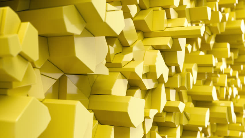 Yellow fractured surface. Abstract 3d background. 3D render animation | Shutterstock HD Video #1016654827