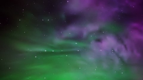 pulsating aurora fills the entire night sky