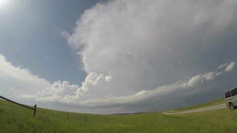 Time lapse of a supercell thunderstorm in South Dakota