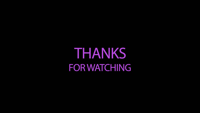 Thanks for watching Transparent Video | Shutterstock HD Video #1016760217
