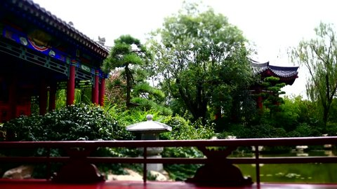 time lapse shot of ancient buildings at China XiAn palace