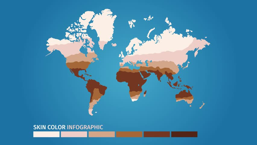 Skin World Map Color Infographic Stock Footage Video 100 Royalty