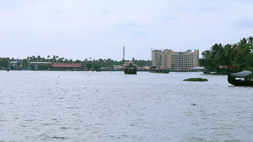 Alleppey, Kerala / India - 10 05 2014: ALLEPPEY, INDIA - OCTOBER 5, 2014: Old Boats cruise at Alleppey on Backwaters. India