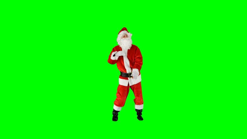Hilarious Kung Fu Christmas Santa Claus Green Screen Dance #1016945917