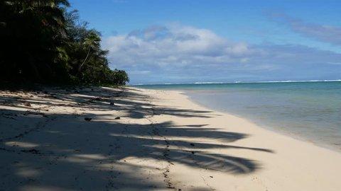 Walking down a beach in Rarotonga. Shot on a Gimbal