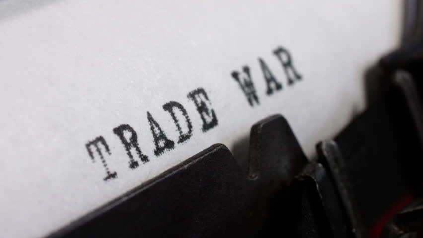 Tariff conflict. Trade War in black ink being typed on an old manual typewriter. | Shutterstock HD Video #1017083347