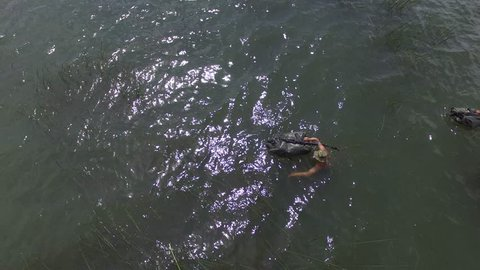 Navy seal swim during special training