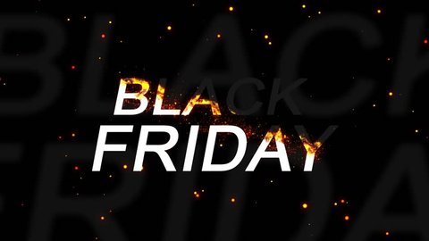 Black friday sale banner. burning