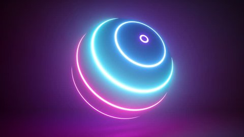 3d rendering, glowing neon light sphere, laser show, globe, hypnotic disco ball, esoteric energy, abstract background, looped animation, ultraviolet spectrum,