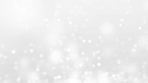 White Moving Bokeh Lights Abstract Background