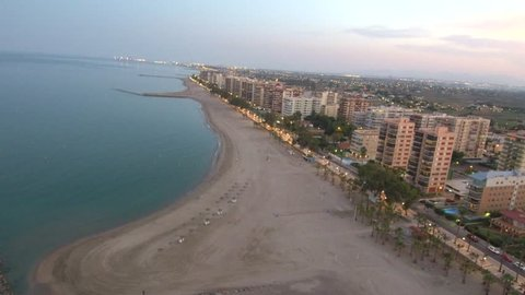 Aerial view from a Drone in Benicassim, Castellon - Spain