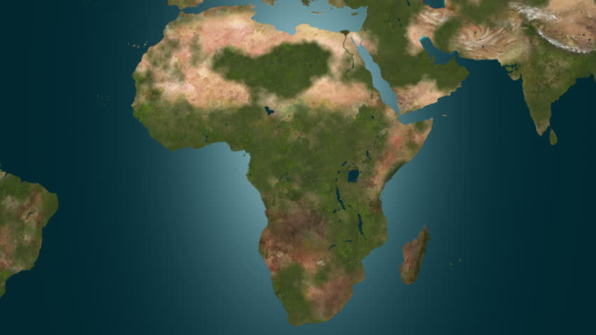 Desertification In Africa Map