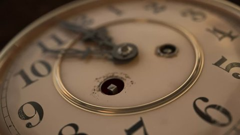 """Vintage Clock Face, 12 On The Dot - Flat Version. This is the 4K update of my successful HD """"Clock Face """" animation."""