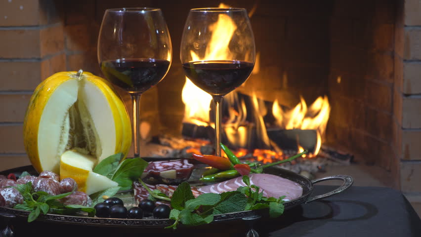 Two Glasses of Wine, Cheese, Stock Footage Video (100% Royalty-free)  1018053457   Shutterstock