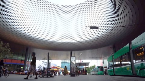 Basel Messeplatz Time Lapse - Basel, Switzerland - June, 2018