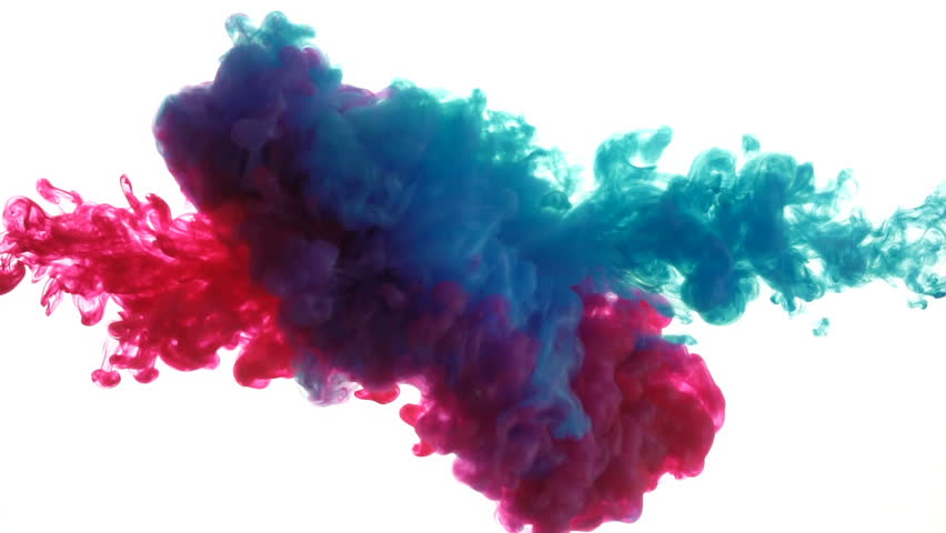 Ink dropped in water on white background, Slow motion  | Shutterstock HD Video #1018109017