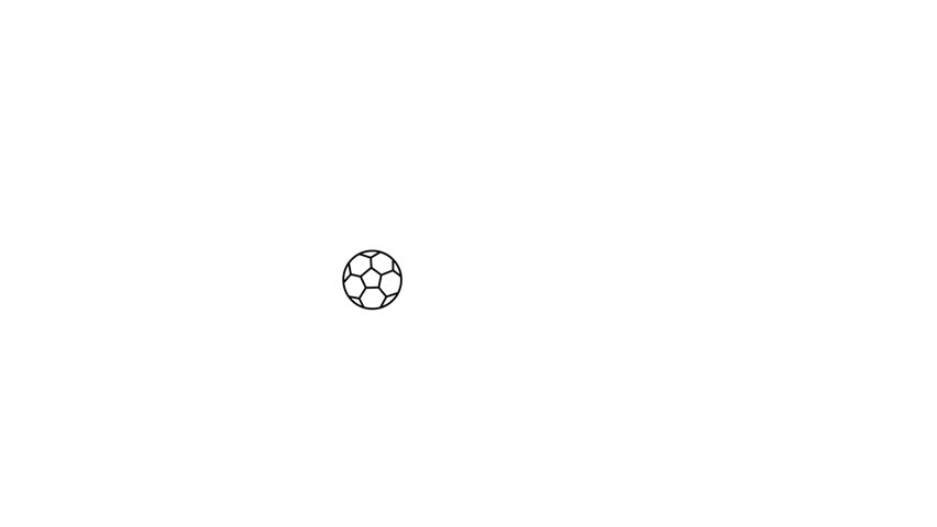 Football animation on the white background. | Shutterstock HD Video #1018149157