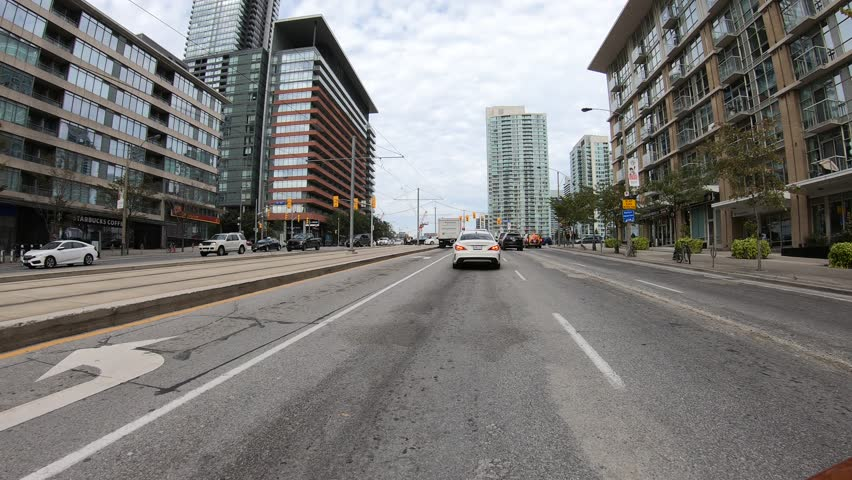 Toronto, Ontario, Canada October 2018 Epic time warp time lapse driving on streets of Toronto | Shutterstock HD Video #1018151497