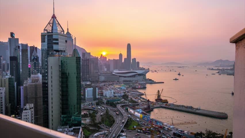 Hong Kong Sunset Timelapse  | Shutterstock HD Video #1018161877