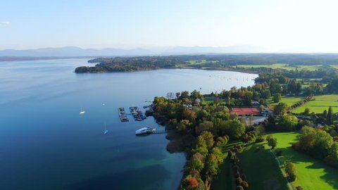 View of Lake Starnberg near Tutzing, Upper Bavaria, Bavaria, Germany, Europe
