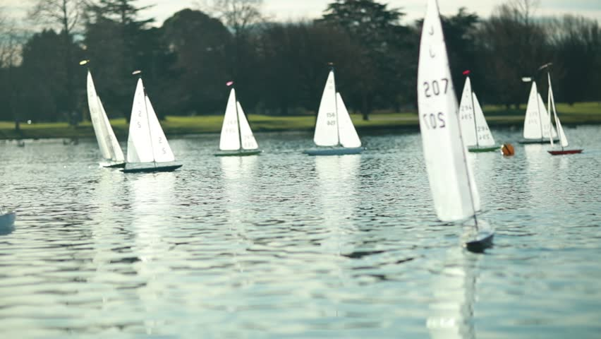 Rc Yacht Racing On a Stock Footage Video (100% Royalty-free) 1018353817 |  Shutterstock
