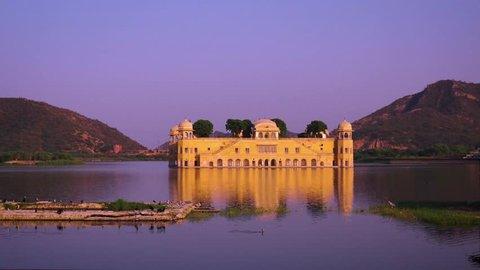Rajasthan landmark - Jal Mahal (Water Palace) Jaipur Rajasthan India