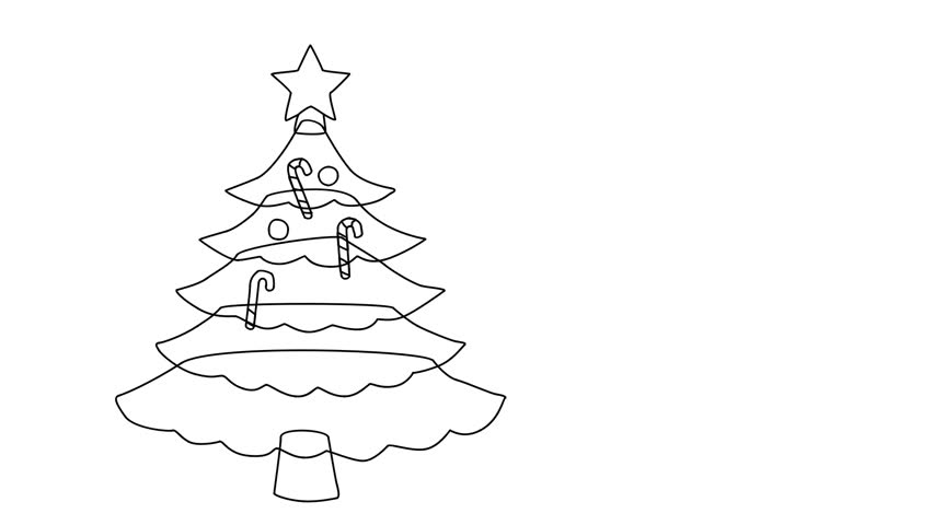 Drawing Christmas Tree Sketch.Animated Sketch Vector Self Drawing Stock Footage Video 100 Royalty Free 1018846027 Shutterstock