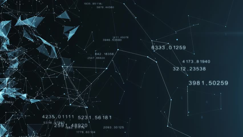 Beautiful 3d animation of the Global Digital Network Growing with Numbers Flying. #1018883677