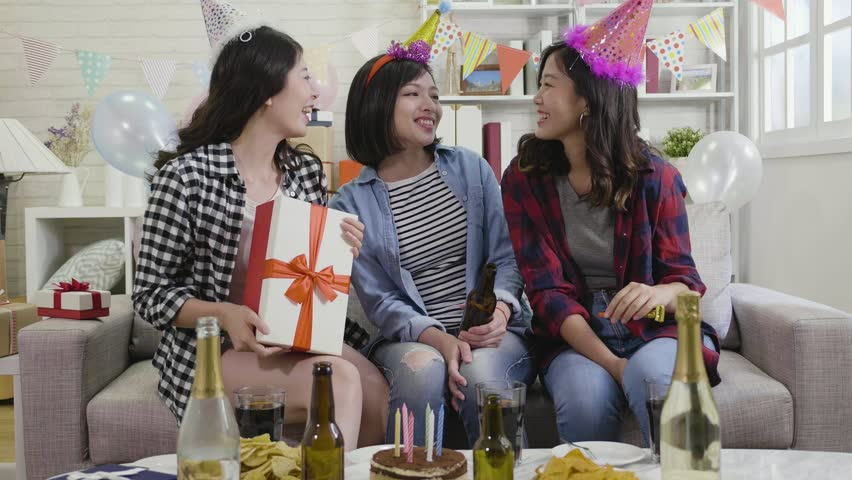 b1790a24ffa Young Happy Ladies Sending Presents Stock Footage Video (100% Royalty-free)  1019120737 | Shutterstock