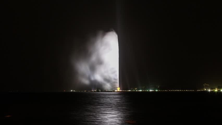 Jeddah highest fountain in the wold | Shutterstock HD Video #1019134747