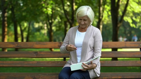 Confident Mature Woman Resting On Stock Footage Video 100