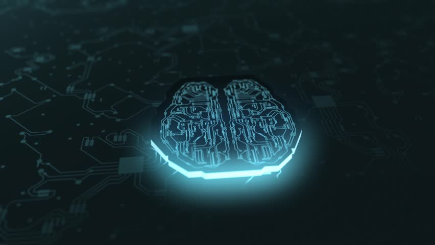 Digital Brain Artificial Intelligence Network Connection | Shutterstock HD Video #1019276917