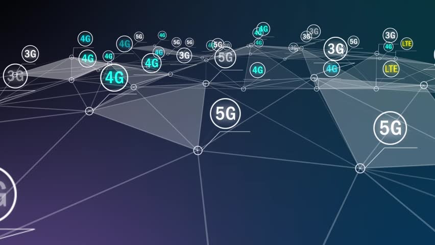 Abstract animation of wireless connection icon in digital cyberspace | Shutterstock HD Video #1019368477