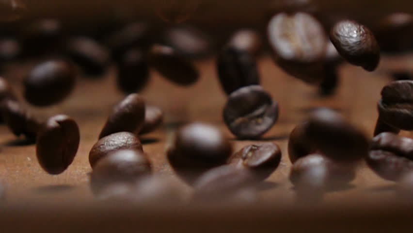 Rolling coffee beans in slow motion shot  | Shutterstock HD Video #1019468587