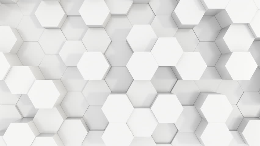 Sharp clean white plastic hexagons 3D motion background loop with sunlight, shadows and motion blur. | Shutterstock HD Video #1019473777