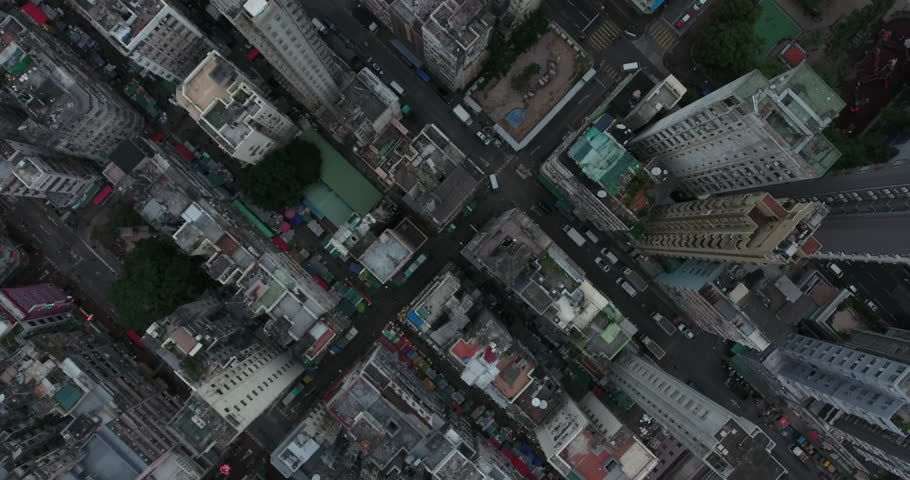Hong Kong Circa-2017, daytime aerial view of the cityscape | Shutterstock HD Video #1020085657