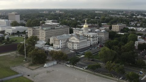Flight over the New Jersey State House in Trenton.