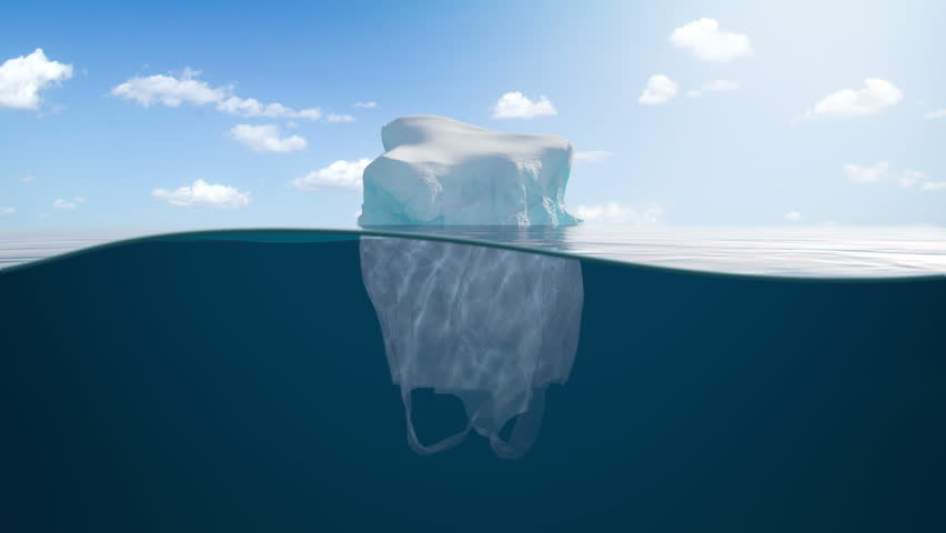 Half Glacier Half Plastic Bag   Shutterstock HD Video #1020230587