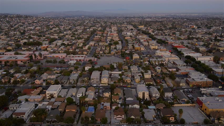 Aerial of Downtown Los Angeles  | Shutterstock HD Video #1020237307