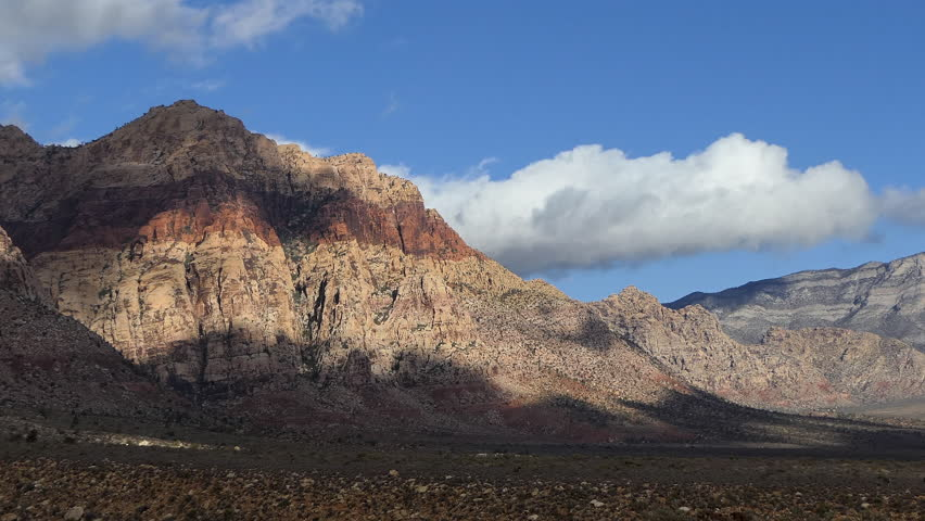 Desert clouds time lapse at Red Rock Canyon National Conservation Area near Las Vegas, Nevada. | Shutterstock HD Video #1020287467