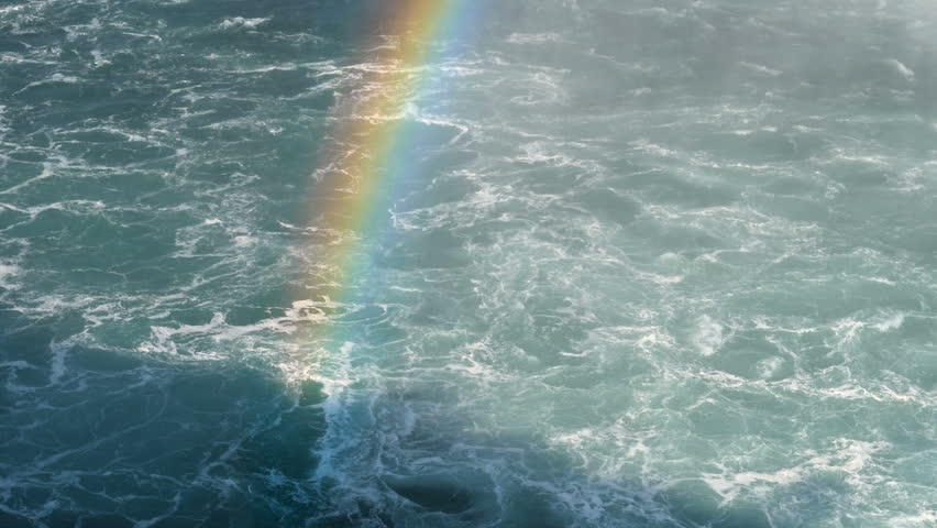 Rainbow and boiling water at Niagara Falls | Shutterstock HD Video #1020327637