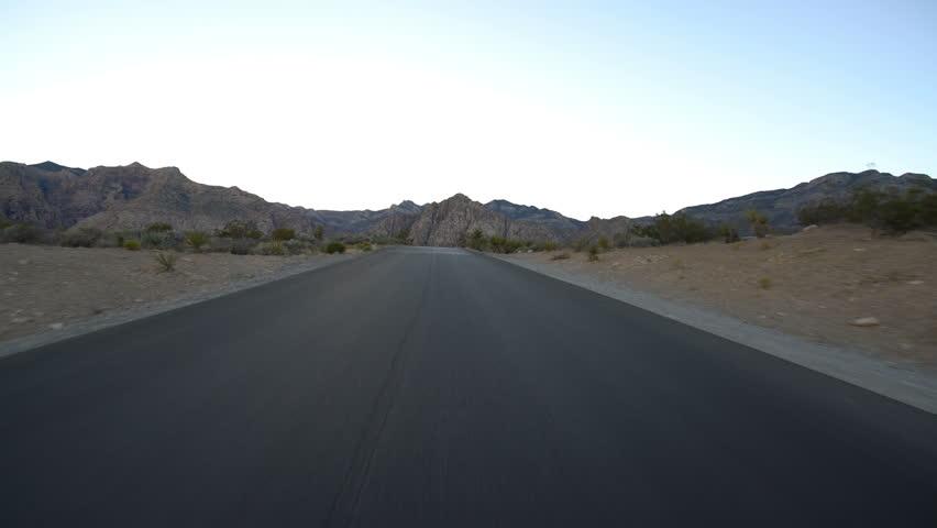 Hyperlapse Driving Winding Desert Highway Nevada | Shutterstock HD Video #1020465727