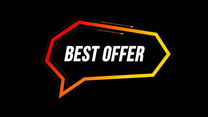 BEST OFFER Animated text shows in bubble Circulating Lines Around Animation, Catch Viewer Attention, Alpha Channel Included 4K UHD Full HD Modern Trendy Design, Use in any Video Software