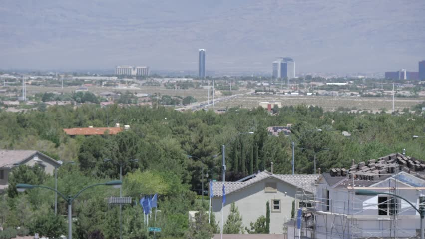 View of Las Vegas from Southern suburbs, Las Vegas, Nevada, USA | Shutterstock HD Video #1020555097