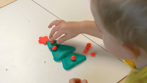 A 2 Year Old Preschool Kid Making Stock Footage Video 100