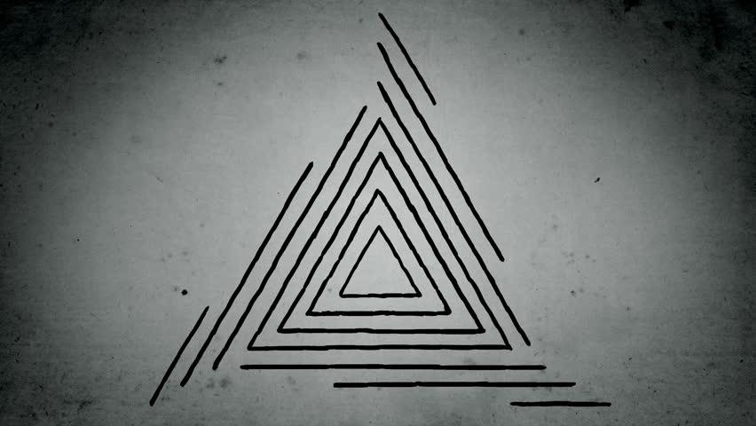 Mystical triangle lines drawing animation | Shutterstock HD Video #1020667117